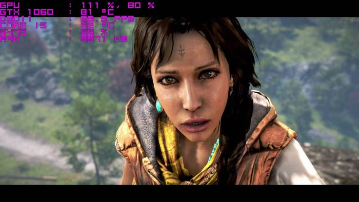 FarCry 4 Gamer  Far Cry 4 - GTX 1060 - Ultra Settings - 1080p Frame Test   My PC Specs:  Mother: Gigabyte-H77M-D3H Video Card: Nvidia GeForce GTX 1060 Founders Edition Memory: Gskill Sniper 12GB @ 1600MHZ CPU: Intel Core I5 3470 3.6GHZ (Stock, not oc.) HDD: Seagate Caviar Blue 500GB Case: Sentey Optimus Mouse: Logitech G502 Headphones: Razer Carcharias Keyboard: Ttesports Knucker   http://farcry4gamer.com/far-cry-4-gtx-1060-ultra-settings-1080p-frame-test/