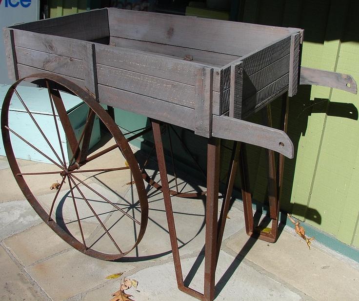 Nice Vintage Garden Cart. Love This.