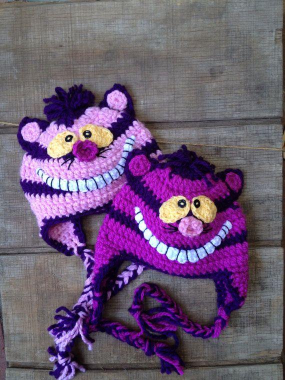 Cheshire Cat Katzen-Mütze häkeln häkeln von thebluemagnolia auf Etsy