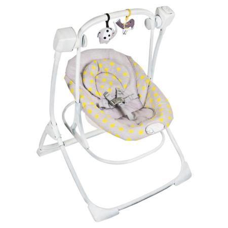 Шезлонг-качели Graco Cozy Duet, серый  — 13390р. --------------- COZY DUET -это качели и кресло -качалка 2 в 1, созданные для успокаивания и развлечения ,которые так необходимы для малыша.Комфорт ребёнка гарантирован с 2 уровнями вибрации на выбор.,которые можно включать как при использовании качелей ,так и при использовании только шезлонга. Удобный съемный шезлонг-переноска! Чтобы ребенку не было скучно над качелей проведена дуга, на которой висят две игрушки для большого развлечения…