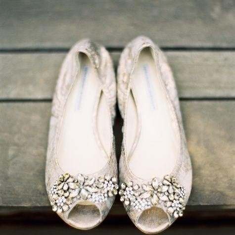 wedding silver flats