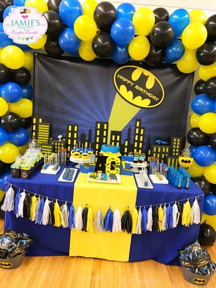 Batman Birthday Party Ideas TheIcedSugarCookie.com Jamie's Cake Pops And Creative Events