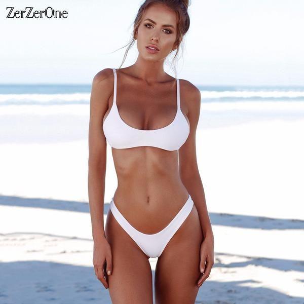 35429e70a116 #FASHION #NEW 2018 Sexy Micro Bikini Plus Size Swimwear Women Swimsuit  Female Beach Wear Push up Thong Brazilian Bikini Set White Bathing…
