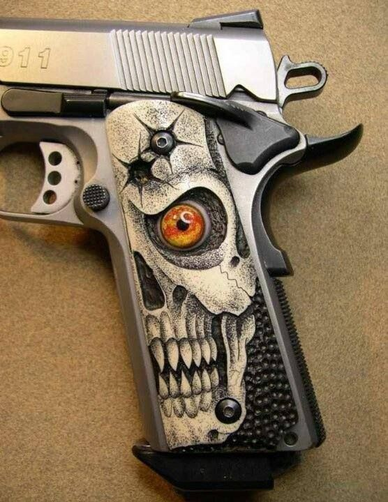 Custom 1911 pistol grips - http://www.RGrips.com I airbrush and would like to something like this!!!!!!