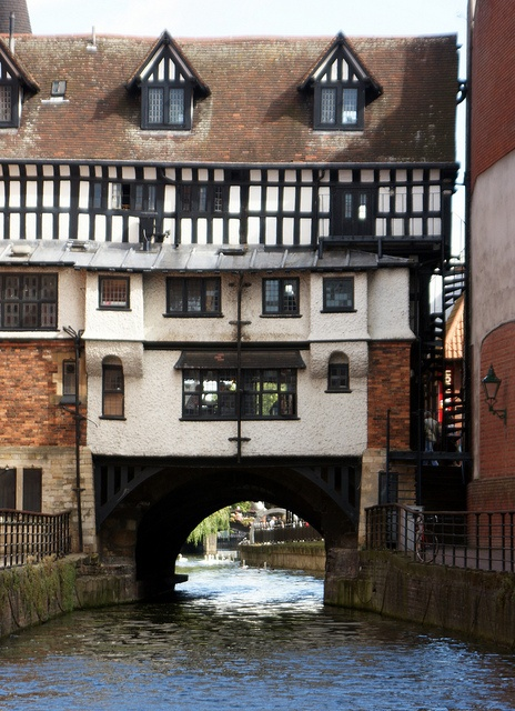 """The Glory Hole""    High Bridge spans the River Witham near the bottom of High Street. The bridge is the oldest medieval bridge in England that still has houses built upon it."