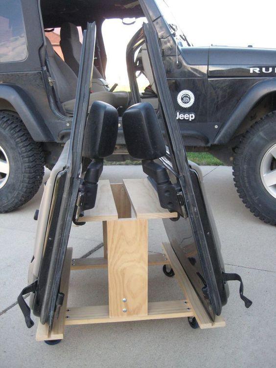 Jeep Wrangler TJ or JK 2-door Storage Cart/ Door Holder: