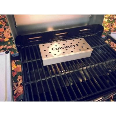 Cuisinart Stainless Steel Wood Chip Smoker Box-CSB-156 - The Home Depot