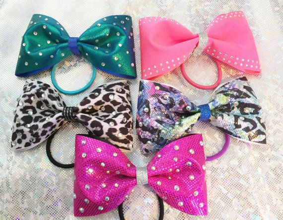 Cheer Hair bow for short hair headband clip your by aboutthebow
