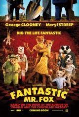 Fantástico Sr. Fox (Wes Anderson, 2009). Un astuto zorro llamado Fox (voz original de George Clooney) parece llevar una vida idílica con su esposa (Meryl Streep) y con su hijo Ash http://www.filmaffinity.com/es/film604587.html