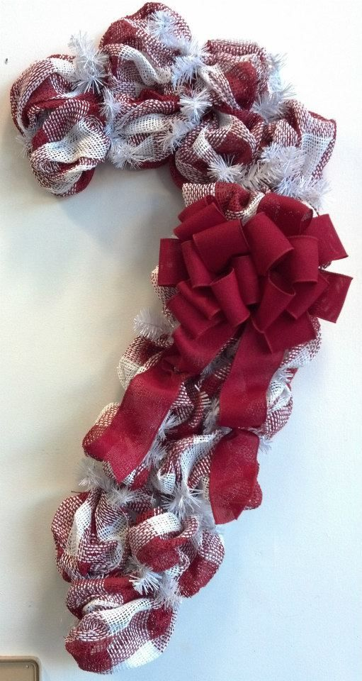 Deco Mesh Candy Cane Great Alternative To A Wreath