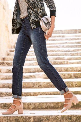 Dark Blue Slouch Skinny Jeans