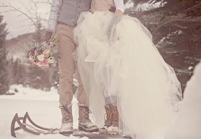 Gotta have the right shoes for a winter wedding! – 26 Ways to Style Your Winter Wedding via Brit + Co.