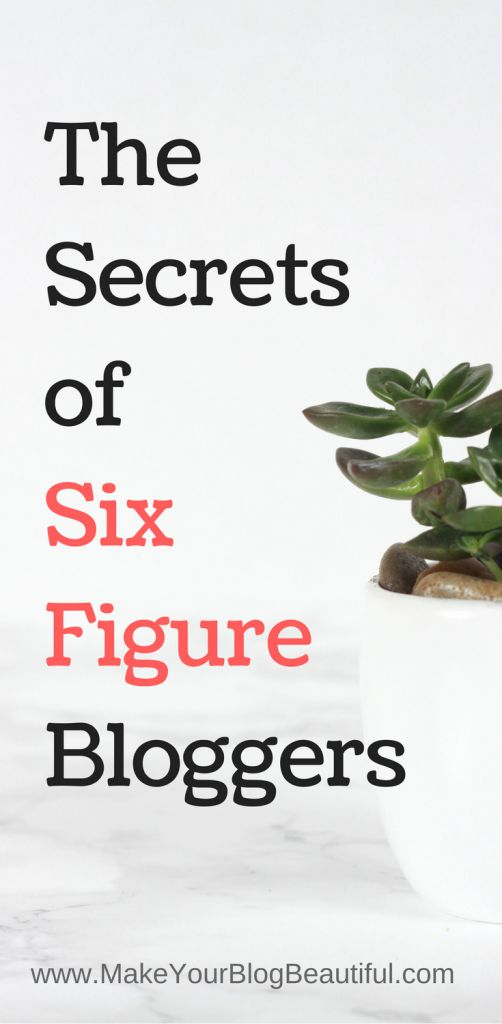 What are six-figure bloggers doing that you aren't? Learn the secrets to monetizing your blog and make a full time living blogging! Start a blog, make money blogging, passive income ideas, full time blogger