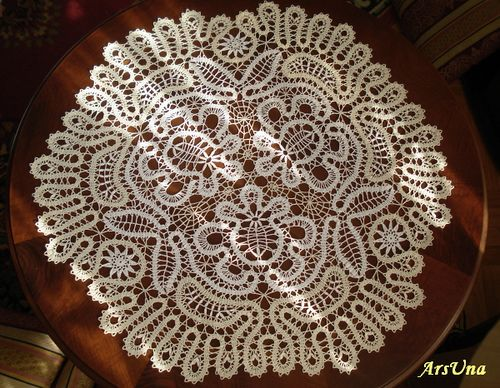 Bruges lace large doily.