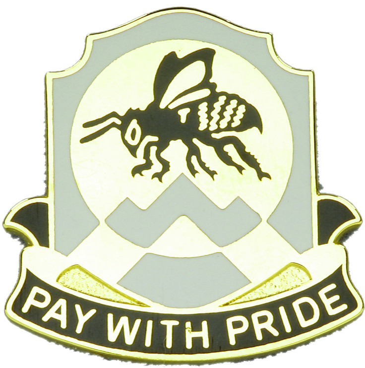 395th Finance Bn Unit Crest (Pay With Pride)