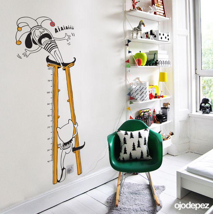 Vinilo decorativo infantil 071 medidor zancos vinilos - Medidor de habitaciones ...