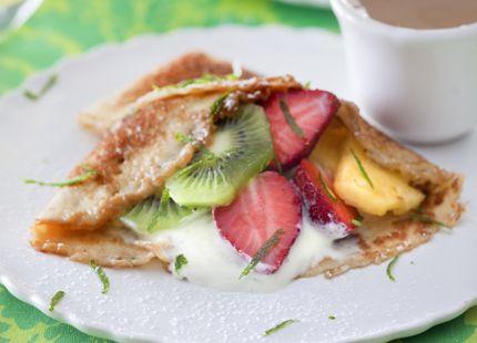 Crêpes med frukt och limekesella   MåBra - Nyttiga recept