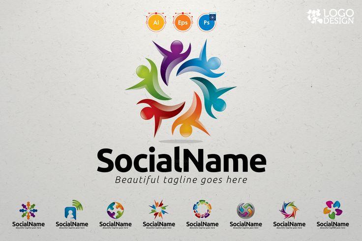 9 Community Logo Value Pack by KitCreativeStudio2 on Creative Market