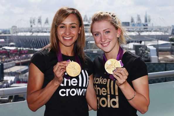 Laura Trott Photos - (FREE FOR EDITORIAL USE) Jessica Ennis (L) and Laura Trott…