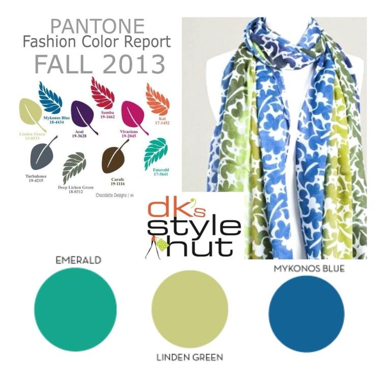 Welcome in fall with a beautiful scarf from DK's Style Hut. http://www.dksstylehut.com/index.php?route=product%2Fcategory&path=61_69 This Vivante by VSA scarf combines three of the hottest colors for the season #mykonosblue #emerald and #lindengreen.