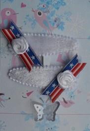Amerikaanse vlag Haarspeldjes. Super Trendy. via www.dreumesenzo.nl