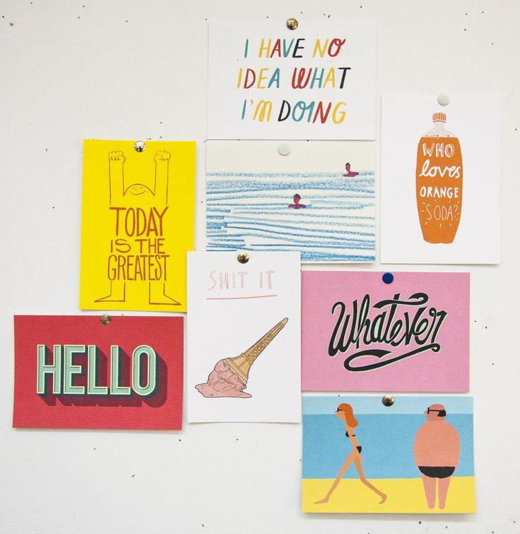 WE LOVE POSTCARDS We're sending them today because we're lovely like that. Check out our swag. #postcards #design #illustration #artists #typography #summer #write #note #cards