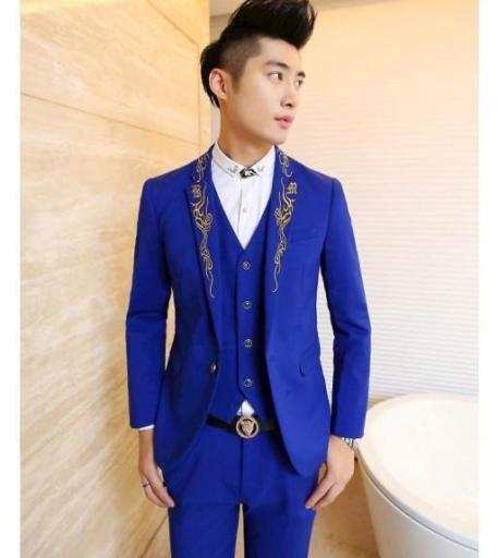 jas pria pengantin harga murah meriah warna biru terang gaul modelnya cocok dipakai di acara resmi khususnya pesta pernikahan kualitas bermutu dijual online