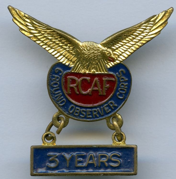 RCAF Ground Observer Corps - 3 Years