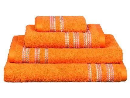 Toalla rizo Telma naranja| Revitex textil-hogar