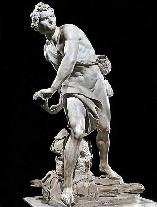 Bernini's David in the Borghese Gallery in Rome.  After seeing Bernini's stautues in person, he became my favorite sculptor