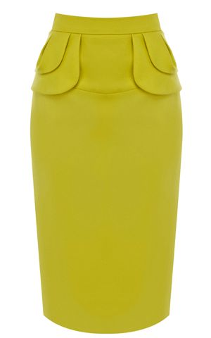 Yellow Midi Pencil Skirt | I need to find this