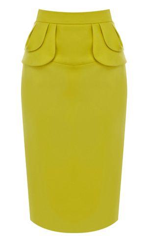 Yellow Midi Pencil Skirt -- When feeling a little gutsy ;-)