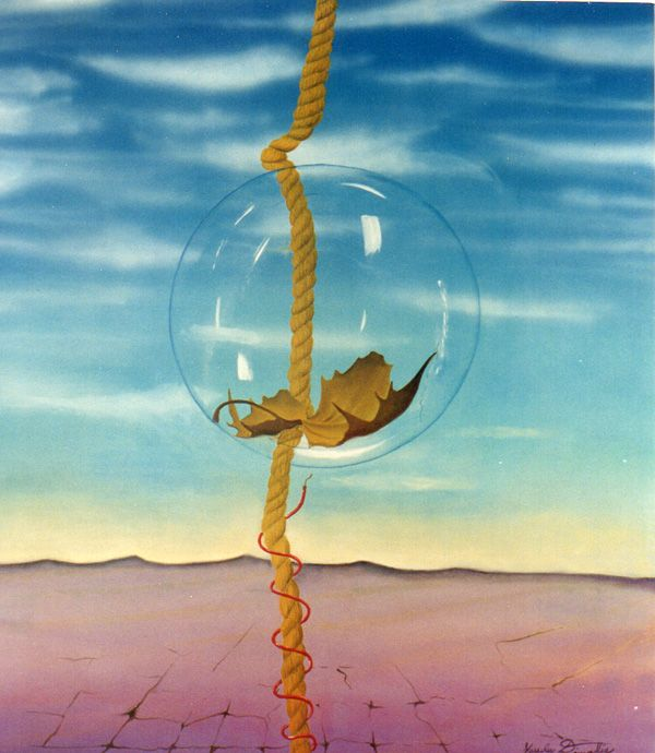 Fragilità - collezione privata - acrilico su tela 35x50