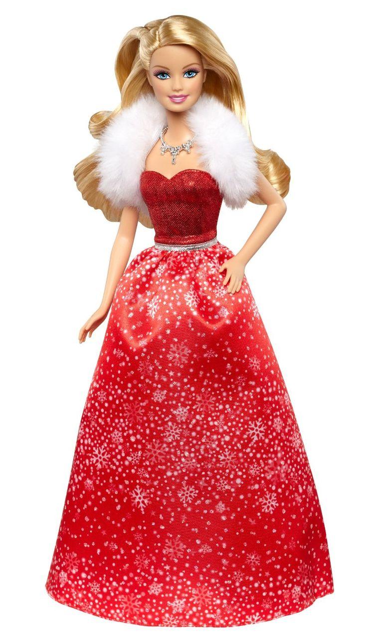 2014 Barbie - Holidays Wishes - Barbie en robe rouge de Noël - Poupée Blonde - CCP45: Amazon.fr: Jeux et Jouets