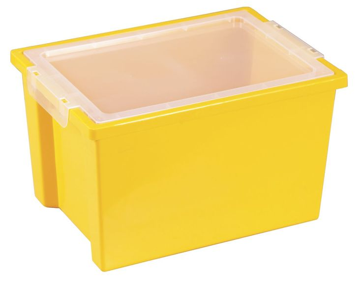 Yellow Plastic Storage Bins with Lids Clear, and Set of 4 Colorful Storage Boxes. Bins & Containers, plastic storage bins with lids.