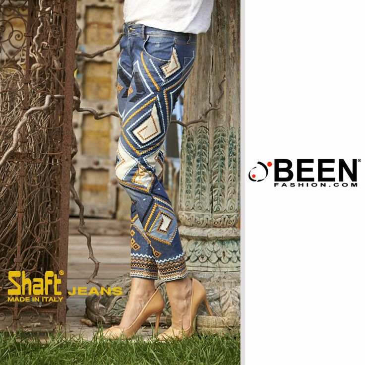 Osa con un look originale ed elegante: i Jeans Slim Fit #SHAFT esalteranno le tue forme e i suoi ricami ti daranno un tocco di sensualità e raffinatezza!  http://www.beenfashion.com/it/shaft-jeans-slim-fit-ricamato.html?utm_source=pinterest.com&utm_medium=post&utm_content=shaft-jeans-slim-fit-ricamato&utm_campaign=post-prodotto