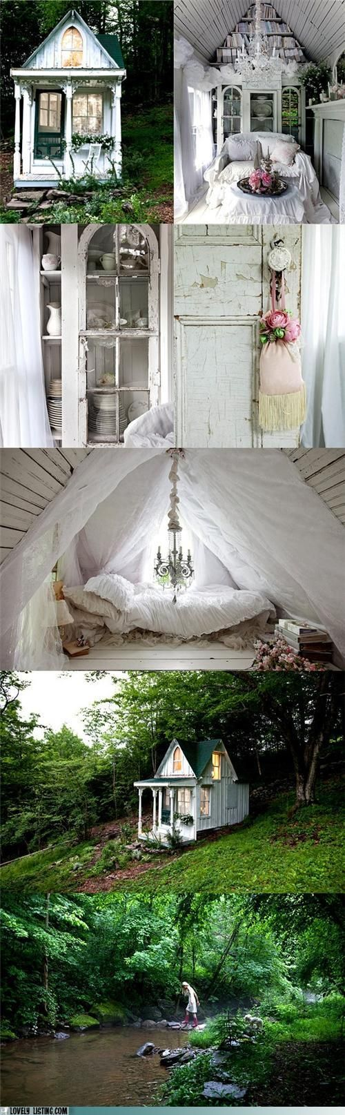 I must have this one day in my backyard...a little whimsy cottage where I can escape.