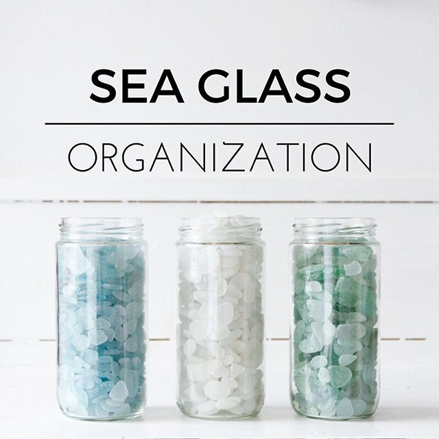 Day #organization Folks, this beachcombing organization is still a work in progress but lately I feel like I've started to get into a good rhythm. 1. I sort straight away otherwise it will never get done and my head wants to explode and the husband gives me weird looks. 2. Sort into piles of personal (place into jars as seen in pic 1), craft and jewelry quality to sell, pottery (in different colors), #beachfreebies and whatever other weird stuff / stored in those IKEA boxes which I love…