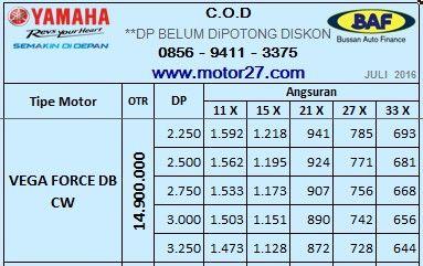 68# Price-List BAF 11, Yamaha VEGA FORCE