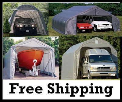 Portable garage shelter logic stop weather and sun for Portable rv garage