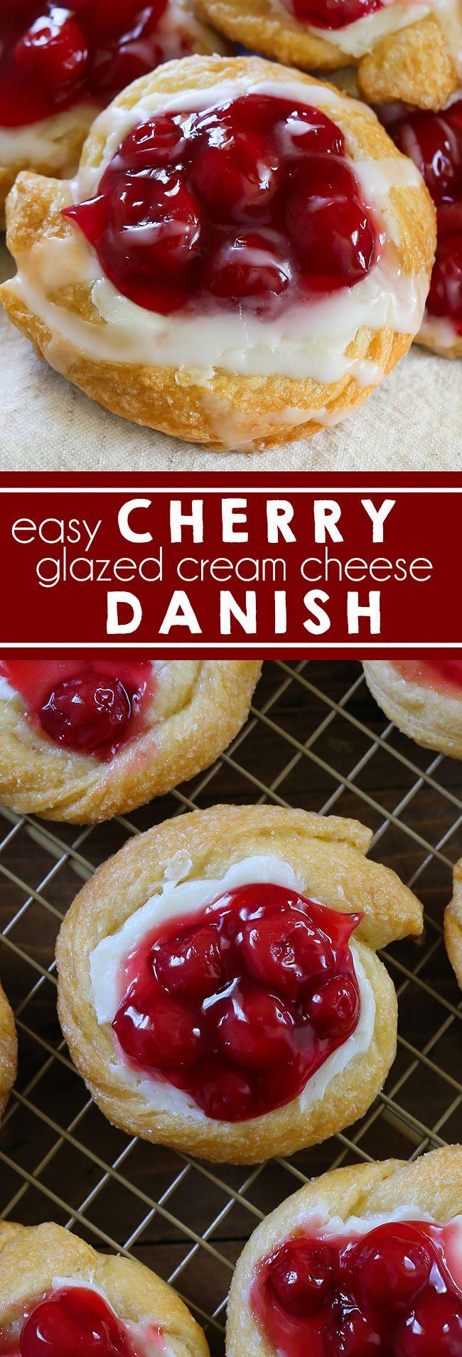 Cherry Danish Cream Cheese Filling I Pastry I Breakfast I Cherry I Cheesecake I Crescent Rolls I Easy Breakfast I Christmas Breakfast I Holiday Food #dessert #breakfast