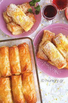 Custard Filled Pastry Rolls-Galaktoboureko