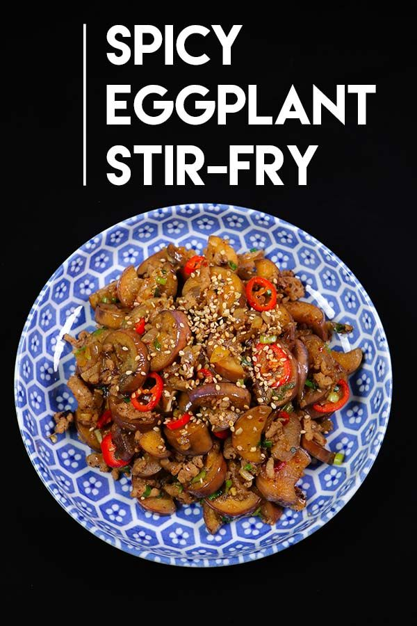 This will be the best spicy eggplant stir fry recipe you will ever have!! It takes less than 15 minutes to make spicy eggplant stir fry, what's not love abo