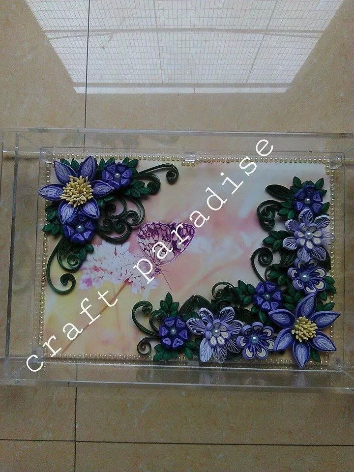 Quilled tray