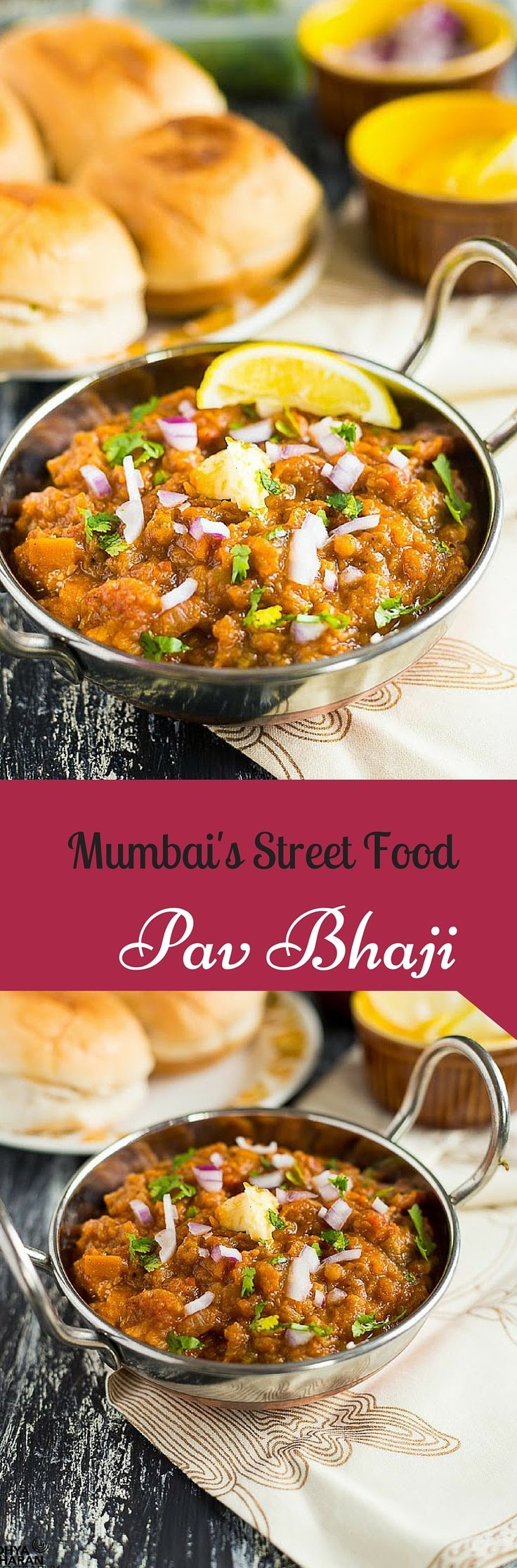 Pav Bhaji… a toungue tickling & mouth watering dish that any Mumbai wala cant resist. Specially the ones made in Juhu Beach…& the ones by the road side telawala(cart guys). They have got a magic ingredient that draws anyone & everyone to their stand.
