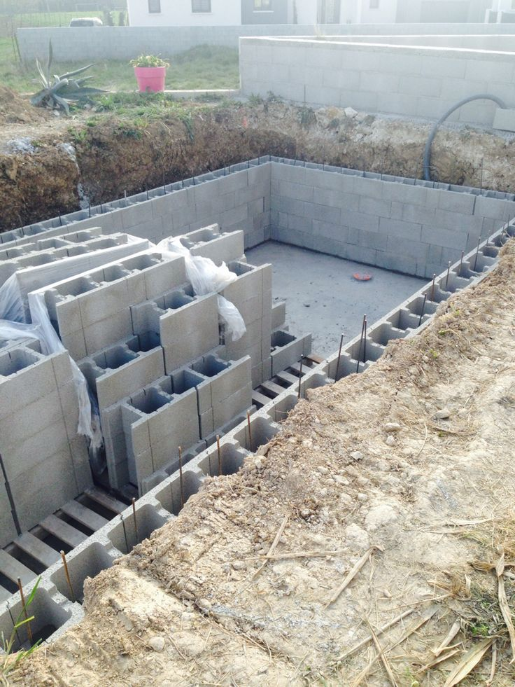 25 ferraillage pinterest for Construction piscine bloc a bancher