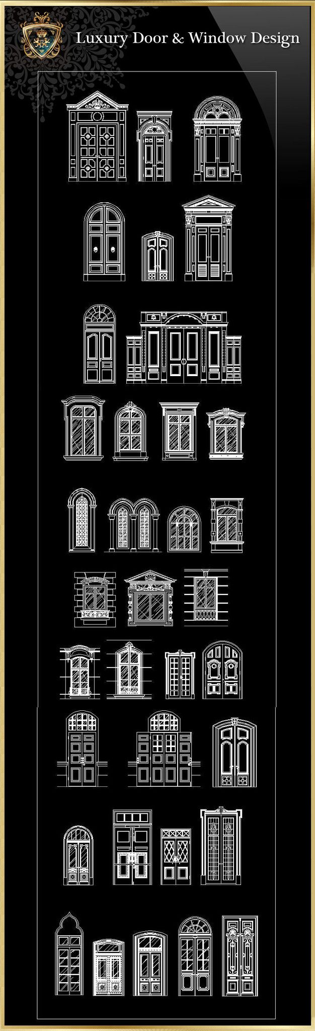 Royal Architecture Door & Window Design – CAD Design | Free CAD Blocks,Drawings,Details