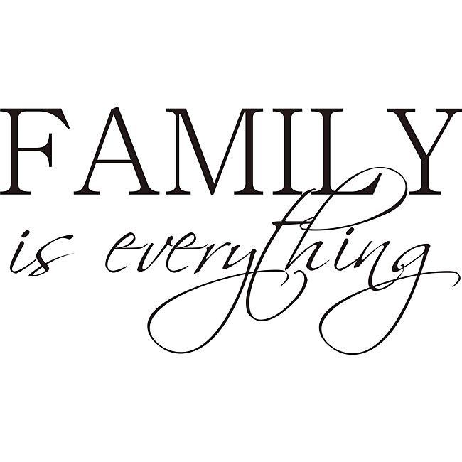 This beautiful vinyl art applies to smooth surfaces like walls, glass, tile and more. This art piece is easy to apply and features the phrase 'Family is everything.' Artist: Unknown Title: Family is E