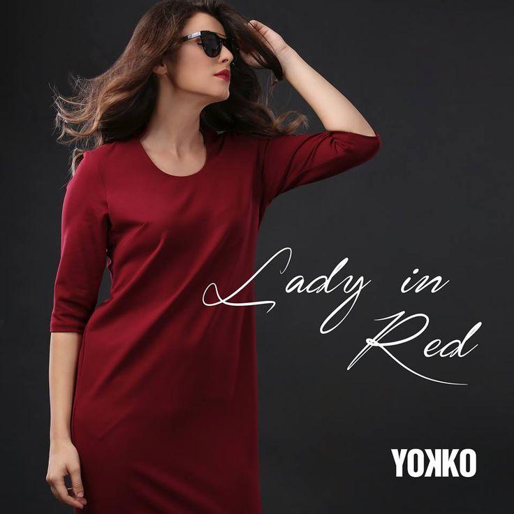 Rochii adorable in nuante de rosu! #dresses #red #fallwinter #women #style #new #yokko #fashion