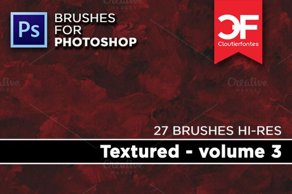 Textured Brushes Volume 1 by CloutierFontes on @creativemarket